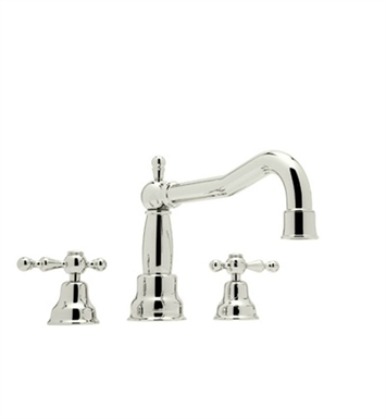 Rohl AC252LM-PN Cisal Arcana 3-Hole Deck Mount Bathtub Filler With Classic Metal Lever Handles in Polished Nickel