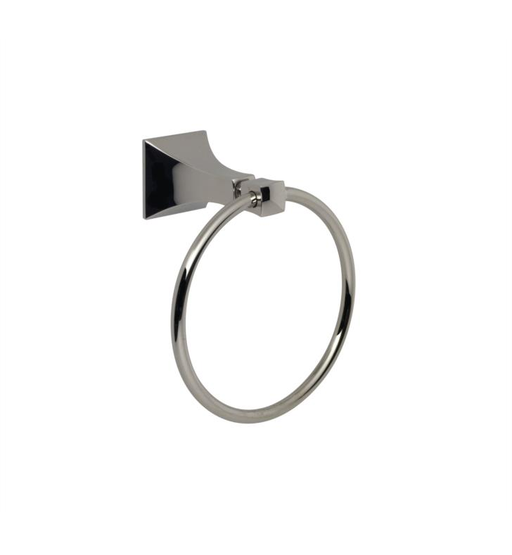 Santec 9264ED88 Edo Towel Ring With Finish: Bright Pewter <strong>(USUALLY SHIPS IN 4-5 WEEKS)</strong>