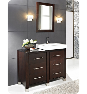 "Fairmont Designs 145-V2418B_DB1818_LEG Midtown 44"" Modular Modern Bathroom Vanity in Espresso"