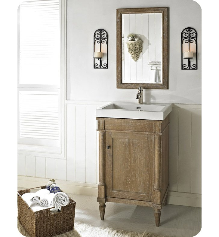 "Rustic Bathroom Vanity Set: Fairmont Designs 142-V21 Rustic Chic 21"" Modern Bathroom"