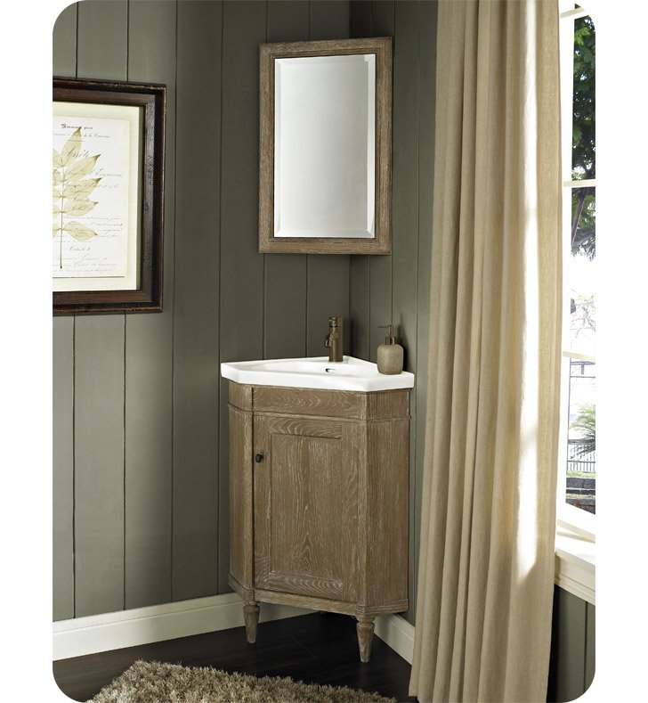 Fairmont Designs 142 Cv26 Rustic Chic 26 Corner Modern Bathroom Vanity And Sink Set