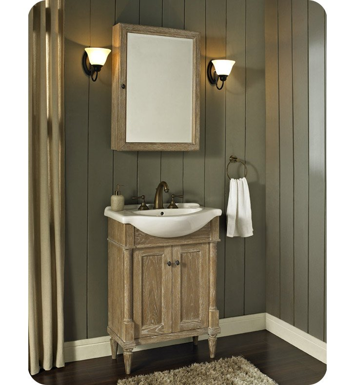 "Rustic Bathroom Vanity Set: Fairmont Designs 142-V26 Rustic Chic 26"" Modern Bathroom"