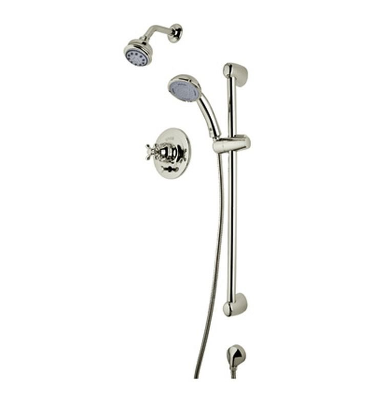 Rohl RBKIT25XM-STN Verona Pressure Balance Shower Package With Cross Handle in Satin Nickel