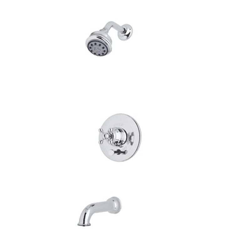 Rohl ACKIT21X-APC Cisal Arcana Shower Package With Cross Handle in Polished Chrome