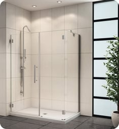 Fleurco PXKR Platinum Kara Shower Door and Panel with Return Panel and Support Bar System