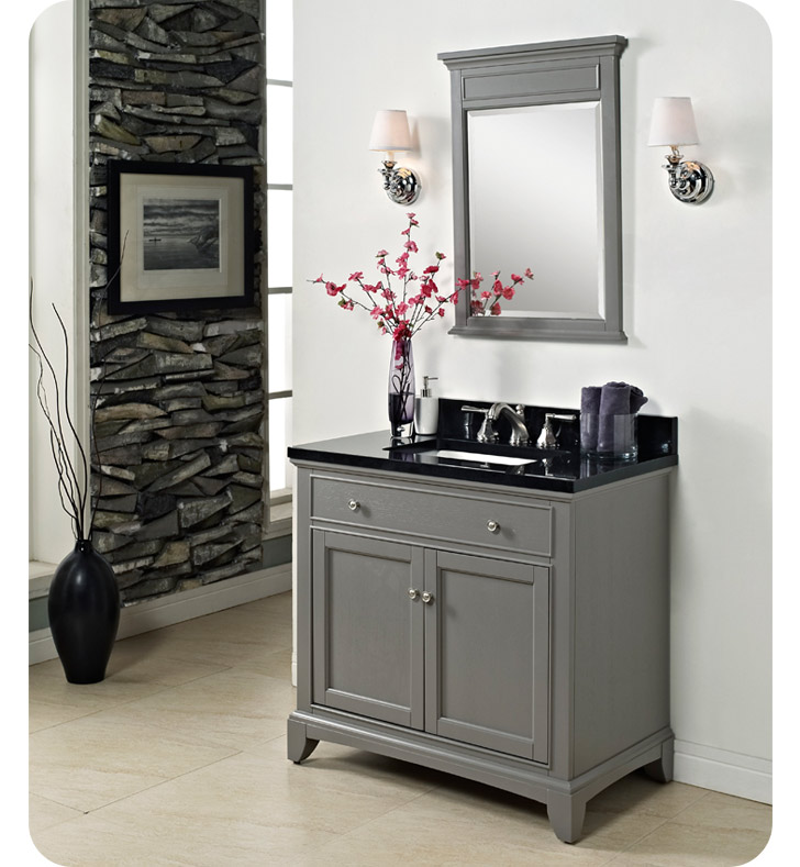 "Fairmont Designs 1504-V36 Smithfield 36"" Modern Bathroom Vanity in Medium Gray"