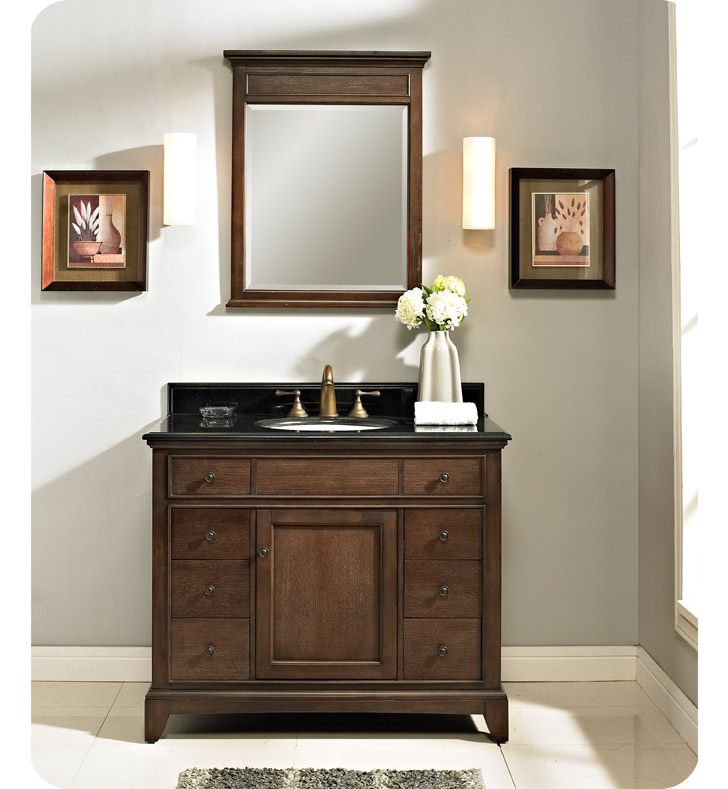 "Fairmont Designs 1503-V42 Smithfield 42"" Modern Bathroom Vanity in Mink"