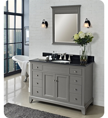 "Fairmont Designs 1504-V48 Smithfield 48"" Modern Bathroom Vanity in Medium Gray"