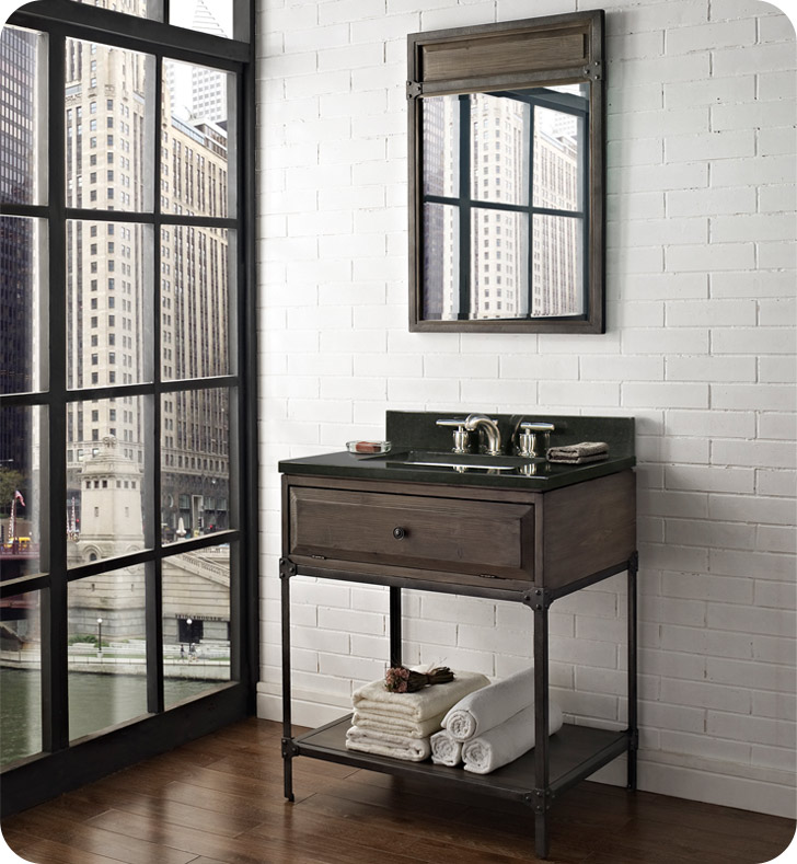 "Fairmont Designs 1401-VH30 Toledo 30"" Open Shelf Modern Bathroom Vanity"