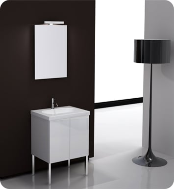 Nameeks TR01-GW Iotti Modern Bathroom Vanity Set from Trendy Collection With Finish: Glossy White