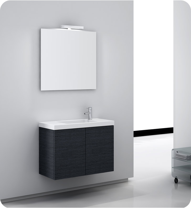 Nameeks HD02-W Iotti Modern Bathroom Vanity Set from Happy Day Collection With Finish: Wenge