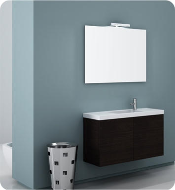 Nameeks HD03-W Iotti Modern Bathroom Vanity Set from Happy Day Collection With Finish: Wenge