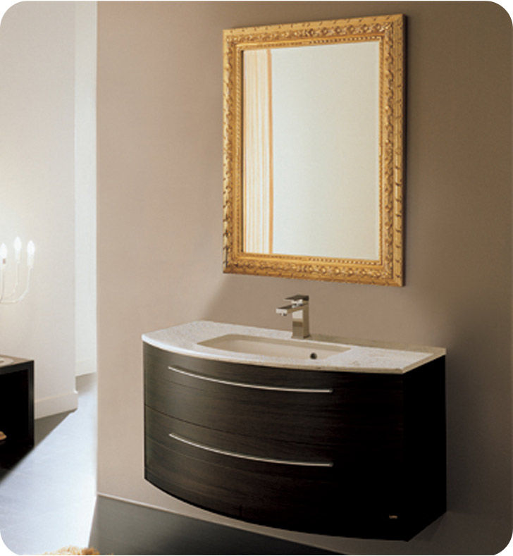 Nameeks NC7-GW Iotti ND1 Modern Bathroom Vanity Set from Dune Collection With Finish: Glossy White