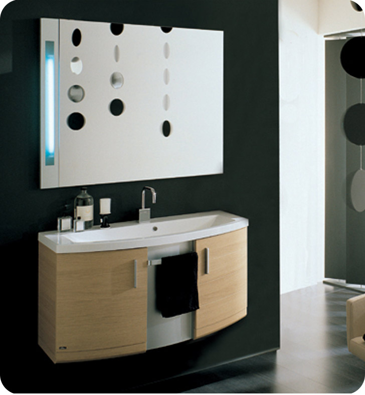 Nameeks ND2-W Iotti Modern Bathroom Vanity Set from Dune Collection With Finish: Wenge
