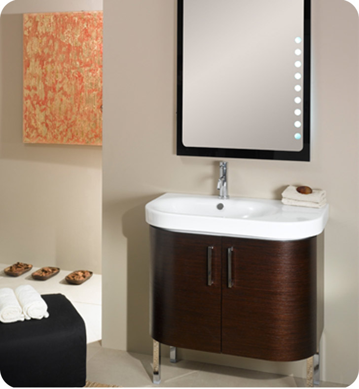 Nameeks NR2-GO Iotti Modern Bathroom Vanity Set from Rondo Collection With Finish: Gray Oak