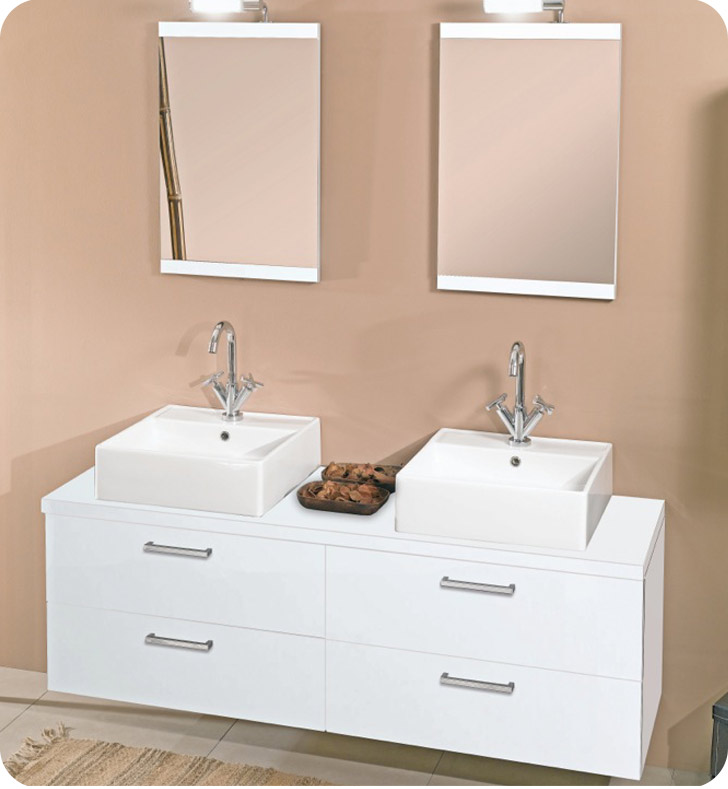 Nameeks A11-GO Iotti Modern Bathroom Vanity Set from Aurora Collection With Finish: Gray Oak