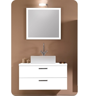 Nameeks A14-W Iotti Modern Bathroom Vanity Set from Aurora Collection With Finish: Wenge