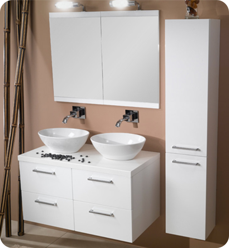 Nameeks A16 Iotti Modern Bathroom Vanity Set from Aurora Collection