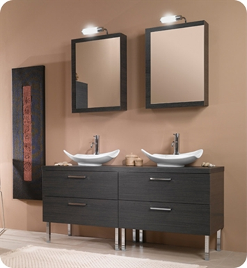 Nameeks A17-W Iotti Modern Bathroom Vanity Set from Aurora Collection With Finish: Wenge