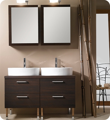Nameeks A19-W Iotti Modern Bathroom Vanity Set from Aurora Collection With Finish: Wenge