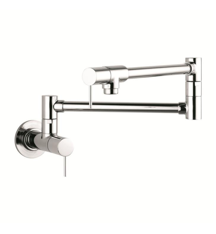 "Hansgrohe 10859 Axor Starck 27"" Double Handle Wall Mount Pot Filler with Aerated Spray"