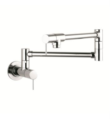"Hansgrohe 10859801 Axor Starck 27"" Double Handle Wall Mount Pot Filler with Aerated Spray With Finish: Steel Optik"