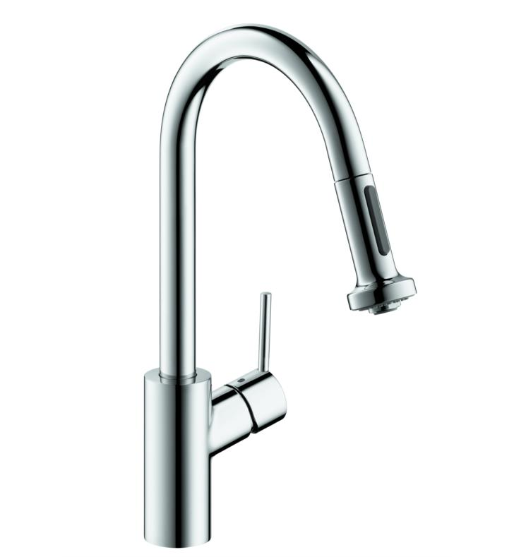 "Hansgrohe 04286 Talis S 7 3/8"" Single Handle Deck Mounted 2-Spray Pull-Down Prep Kitchen Faucet"