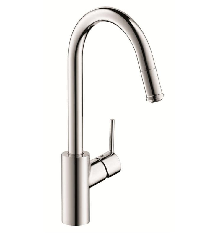 "Hansgrohe 14872 Talis S 8 1/4"" Single Handle Deck Mounted 1-Spray High-Arc Pull-Down Kitchen Faucet"