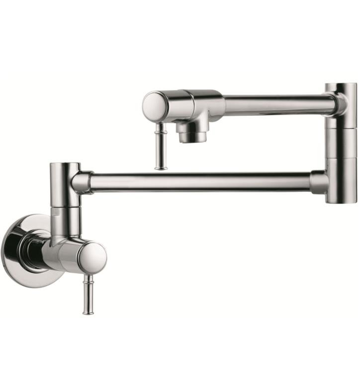 "Hansgrohe 04218 Talis C 27"" Double Handle Wall Mount Pot Filler with Aerated Spray"