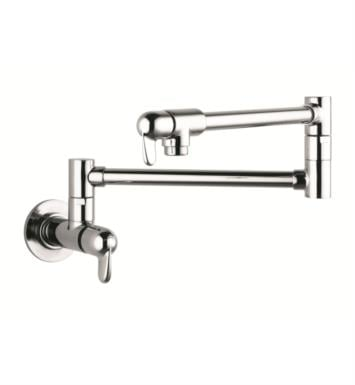 "Hansgrohe 04059860 Allegro E 26 3/8"" Double Handle Wall Mount Pot Filler with Aerated Spray With Finish: Steel Optik"