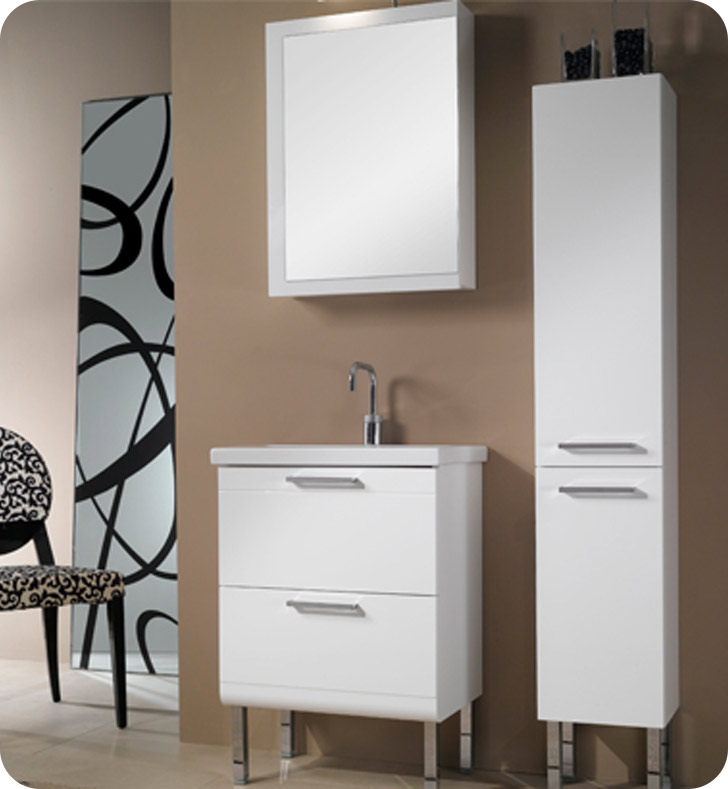 Nameeks L12-GO Iotti Modern Bathroom Vanity Set from Luna Collection With Finish: Gray Oak