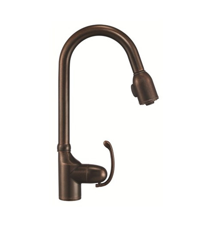 Danze D454520BR Anu™ Single Handle Pull-Down Kitchen Faucet in Tumbled Bronze