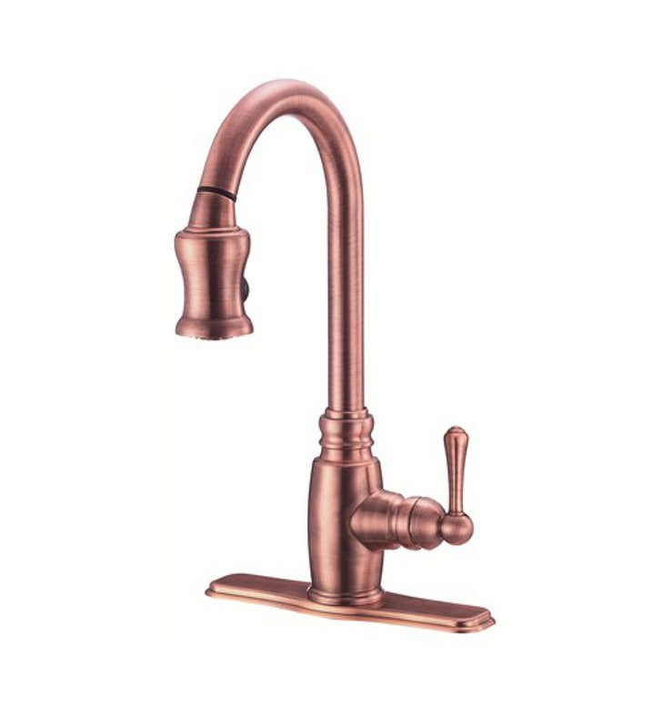 Danze D454557AC Opulence™ Single Handle Pull-Down Kitchen Faucet in Antique Copper