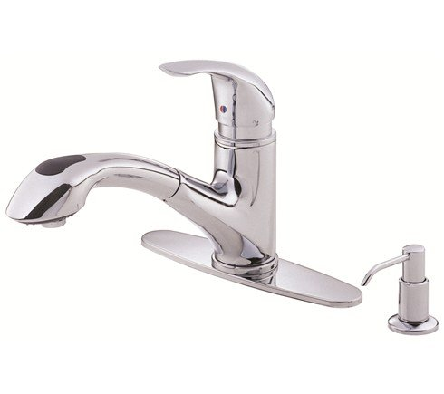 Danze D454612 Melrose™ Single Handle Pull-Out Kitchen Faucet in Chrome
