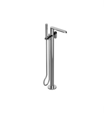 "Graff G-6654-LM45N-PC Phase 34 3/8"" Floor Mounted Tub Filler with Handshower and Diverter With Finish: Polished Chrome And Rough / Valve: Trim + Rough"
