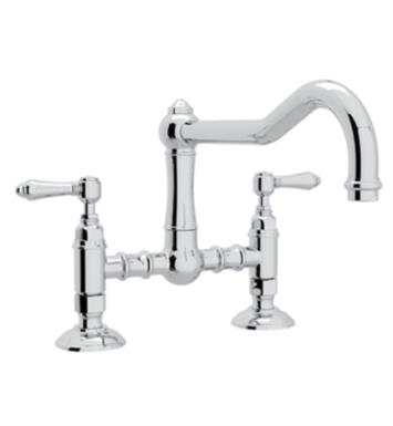 "Rohl A1459 Country Kitchen 8 7/8"" Deck Mounted Column Spout Bridge Faucet"