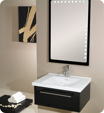 Nameeks FL4-GW Iotti Modern Bathroom Vanity Set from Fly Collection With Finish: Glossy White
