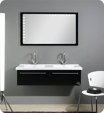 Nameeks FL5-GB Iotti Modern Bathroom Vanity Set from Fly Collection With Finish: Glossy Black