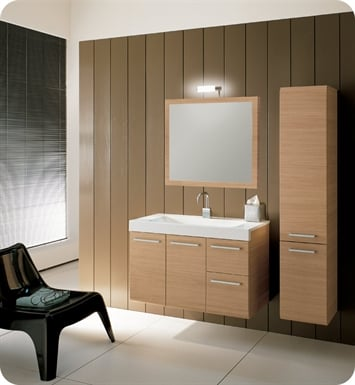 Nameeks LE2-W Iotti Modern Bathroom Vanity Set from Linear Collection With Finish: Wenge