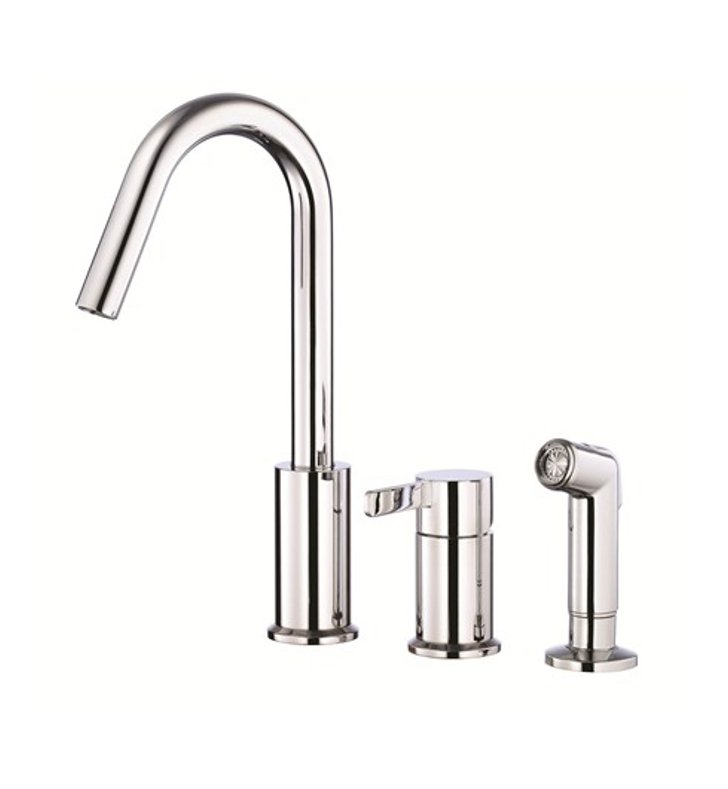 Danze D409030 Amalfi™ Single Handle Kitchen Faucet with Spray in Chrome