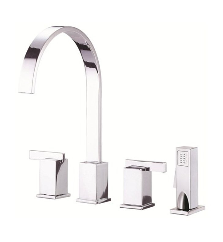 Danze D422044 Sirius™ Two Handle Kitchen Faucet with Spray in Chrome