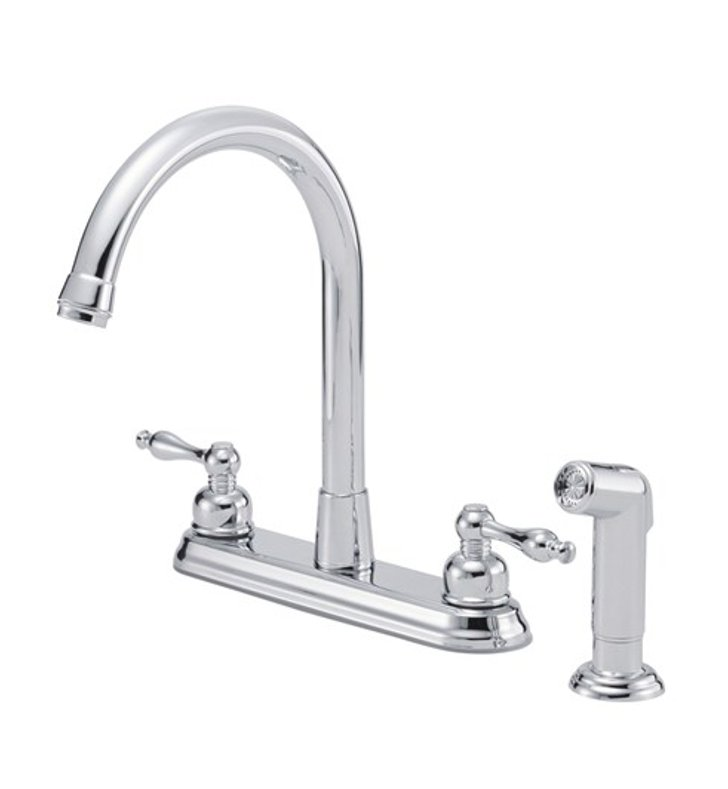 Danze D422055 Sheridan™ Two Handle High-Rise Kitchen Faucet with Spray in Chrome