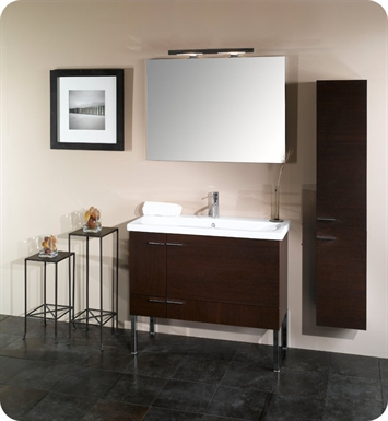 Nameeks NS2-GW Iotti Modern Bathroom Vanity Set from Simple Collection With Finish: Glossy White