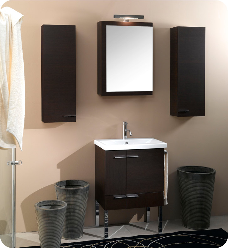 Nameeks NS3-TK Iotti Modern Bathroom Vanity Set from Simple Collection With Finish: Teak