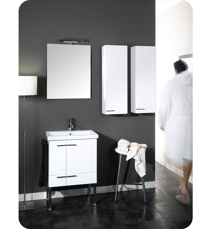 Nameeks NS6-GO Iotti Modern Bathroom Vanity Set from Simple Collection With Finish: Gray Oak