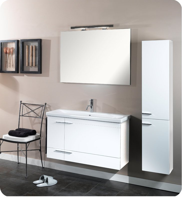 Nameeks NS7-GO Iotti Modern Bathroom Vanity Set from Simple Collection With Finish: Gray Oak