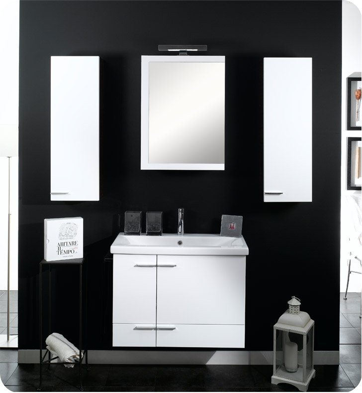 Nameeks NS9-GO Iotti Modern Bathroom Vanity Set from Simple Collection With Finish: Gray Oak