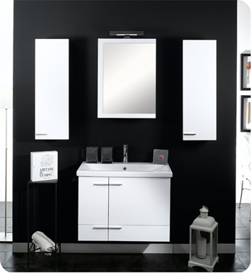 Nameeks NS9-W Iotti Modern Bathroom Vanity Set from Simple Collection With Finish: Wenge