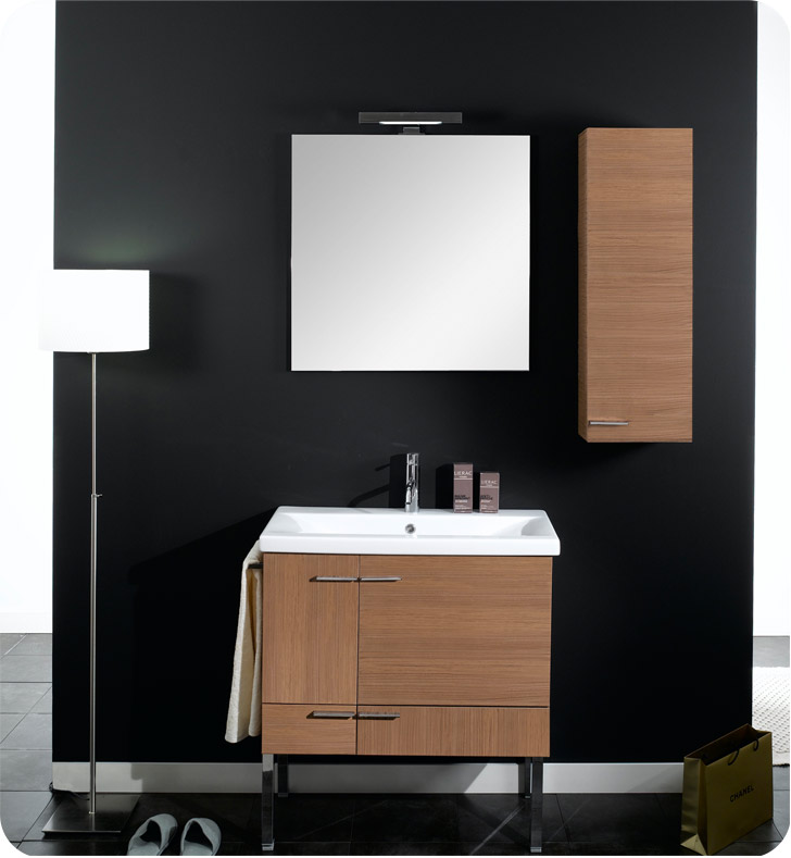Nameeks NS10-W Iotti Modern Bathroom Vanity Set from Simple Collection With Finish: Wenge