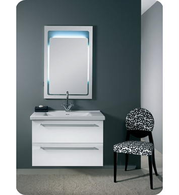 Nameeks FL6-GW Iotti Modern Bathroom Vanity Set from Fly Collection With Finish: Glossy White